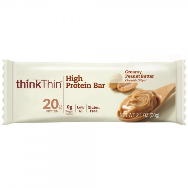 Think Thin  High Protein Bars, 2.1 oz bars, Creamy Peanut Bu 1456910