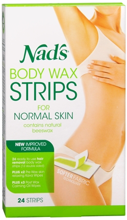 Nad's Hair Removal Strips 24 Each 1183850