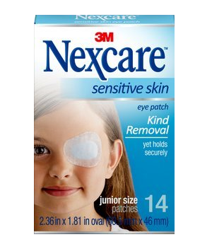 Nexcare Sensitive Skin Junior Size Eye Patches 14 ea 1398200
