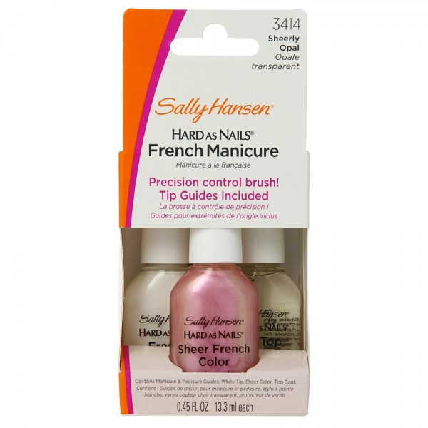 Sally Hansen Hard as Nails French Manicure Kit, Sheerly Opal 1361300
