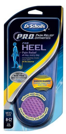 Dr. Scholl's Heel Pain Relief Orthotics Men's 8-12 1 Pair 1186250