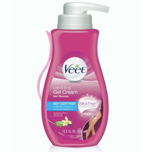 Veet Gel Hair Removal Cream, for Legs & Body, 13.5 oz 1183825