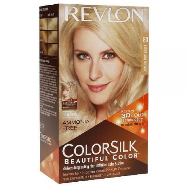 Revlon ColorSilk Hair Color 80 Light Ash Blonde 1 ea 1183605