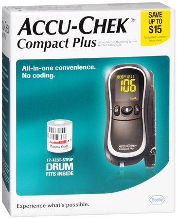 ACCU-CHEK Compact Plus Diabetes Monitoring Kit 1 Each 1159310