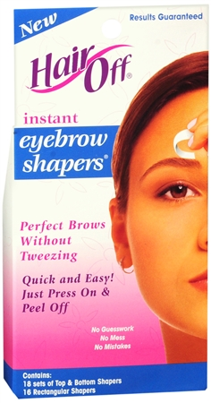 HairOff Instant Eyebrow Shapers 18 Each 1189265