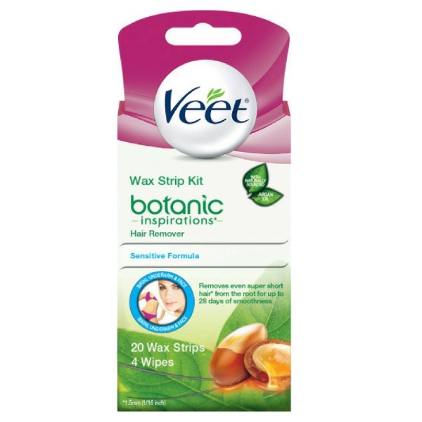 Veet Botanic Inspirations Wax Strip Kit, for Bikini, Underar 1308030
