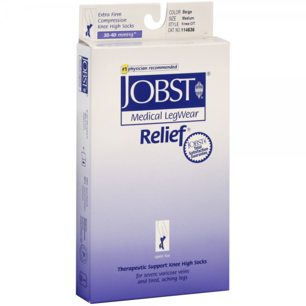 JOBST Relief Knee-High Extra Firm Compression Stockings, Bei 1403915