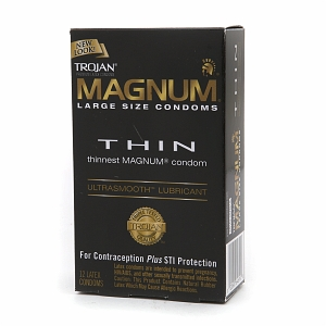 TROJAN MAGNUM Thin Lubricated Premium Latex Condoms Large Si 1273775