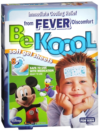 Be Koool Gel Sheets For Kids Fever 4 Each 1179740
