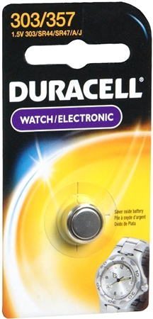 Image of Duracell Silver Oxide Battery Watch/Electronic 1.5 Volt 303/