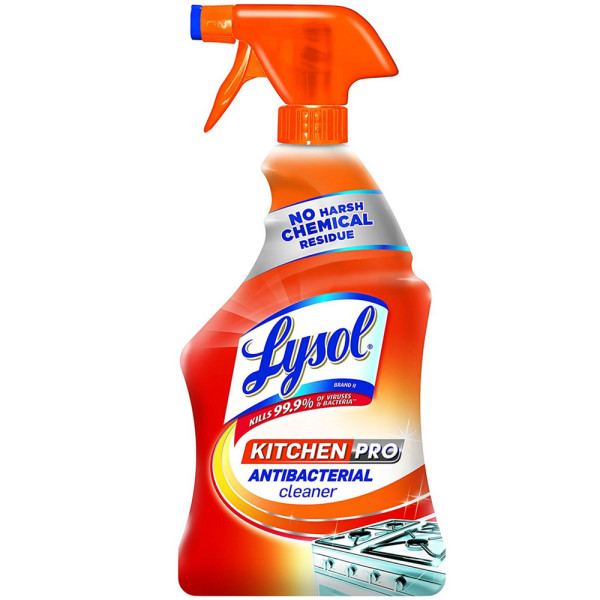 Image of Lysol Kitchen Pro Antibacterial Kitchen Cleaner Spray No Har