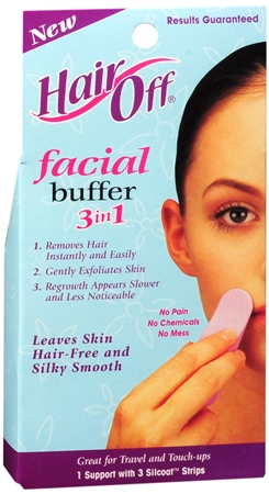 HairOff Facial Buffer 3 Each 1173375