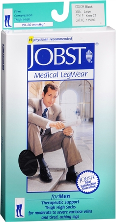 JOBST Medical LegWear For Men Knee High Socks 20-30 mmHg Bla 1198440