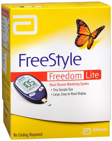FreeStyle Freedom Lite Blood Glucose Monitoring System 1 Eac 1177725