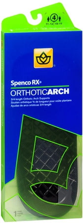 Image of Spenco RX 3/4 Length Orthotic Arch Supports Size 4 1 Pair