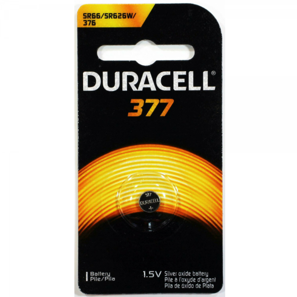 Image of Duracell Silver Oxide Battery Watch/Electronic 1.5 Volt 377