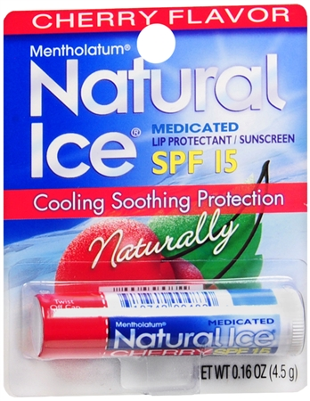 Mentholatum Natural Ice Lip Balm Cherry SPF 15 1 Each 1203750