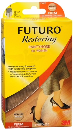 FUTURO Restoring Pantyhose Brief Cut Panty Firm Medium Nude 1220405