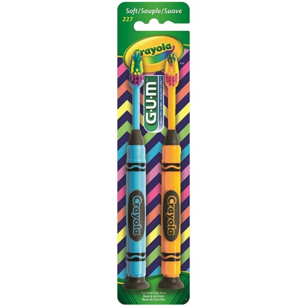 GUM Crayola Toothbrushes Soft 2 ea 1161475