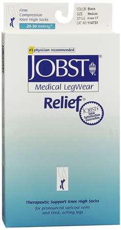 JOBST Medical LegWear Relief Knee High Socks Firm Compressio 1198570
