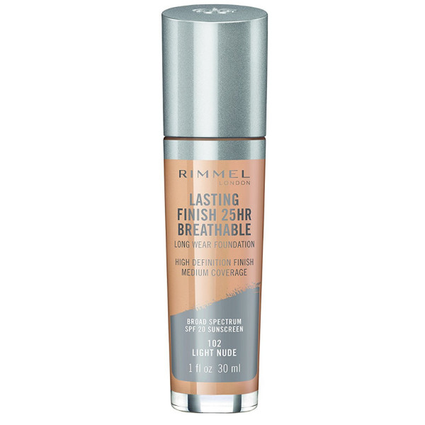 Rimmel Lasting Finish Breathable Foundation, Light Nude 1 oz 1582650