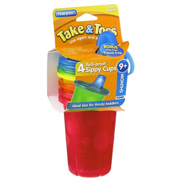The First Years Take & Toss Spill-Proof Cups 10-Ounce, Assor 1234385