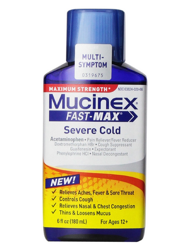 Mucinex Fast-Max Adult Liquid Severe Cold Cough  6 oz 1372285