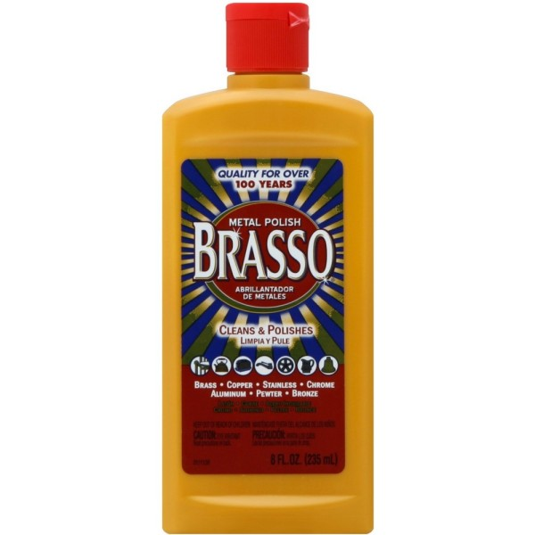 Image of Brasso Metal Polish, 8 oz Bottle for Brass, Copper, Stainles