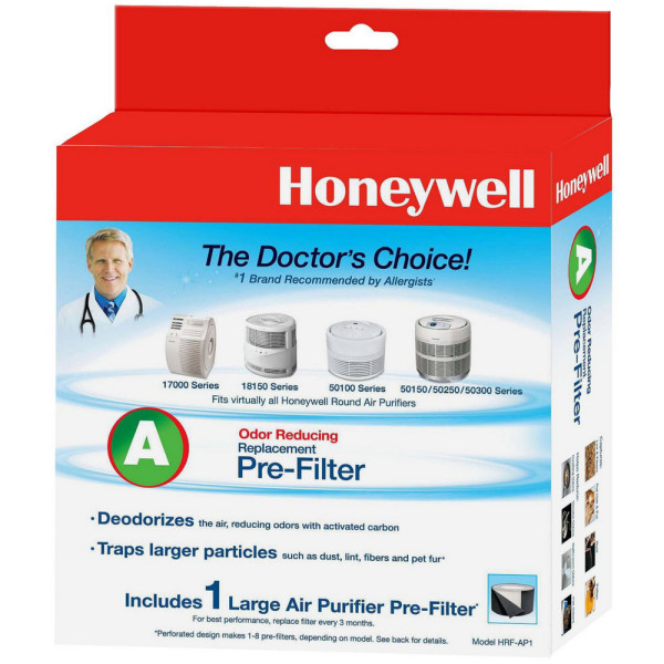 Honeywell Odor Reducing Replacement Pre-Filter A 1 ea 1482245