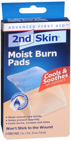 2nd Skin Moist Burn Pads 2 Inches X 3 Inches 4 Each 1200865