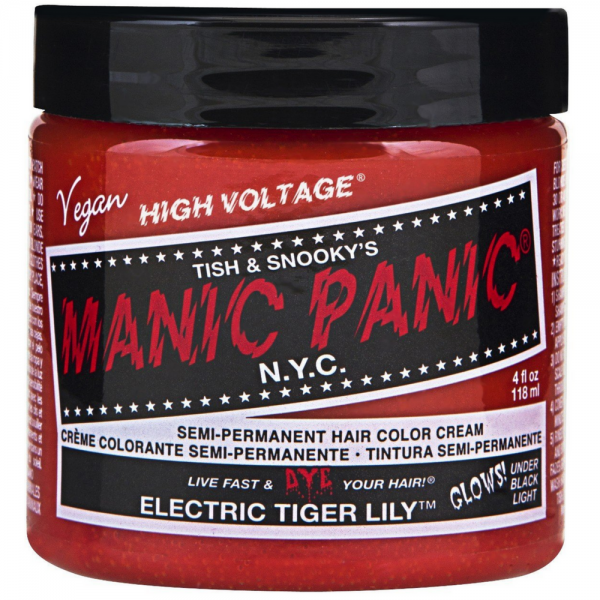Manic Panic Semi-Permanent Hair Color Cream, Electric Tiger 1473190