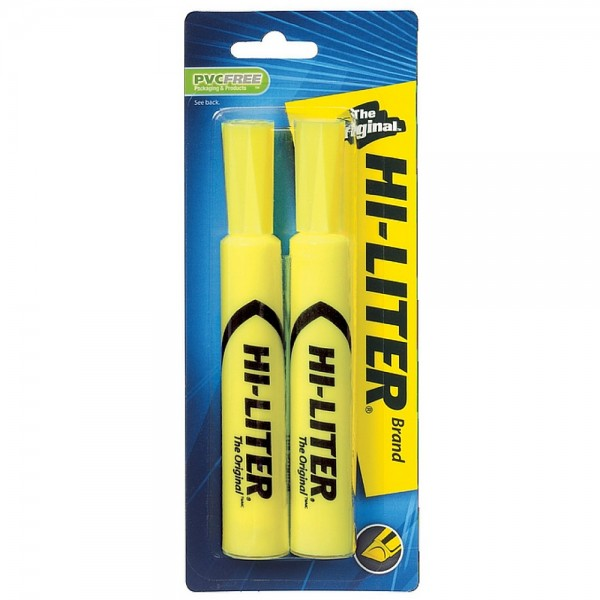 Image of Avery Hi-Liter Desk Style Highlighter, Chisel Point, Yellow