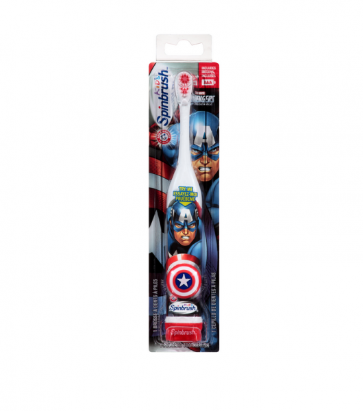 ARM & HAMMER Kid's Spinbrush Toothbrush, Marvel Heroes 1 ea 1191235