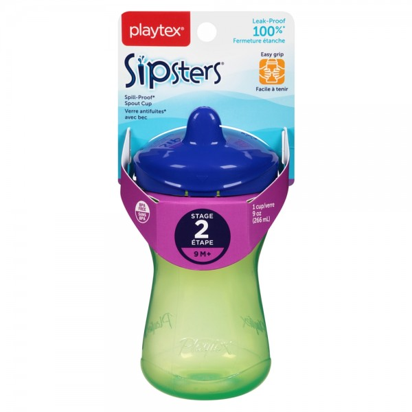 Playtex Sipsters Stage 2 Spill-Proof 9 oz Spout Cups, Colors 1443465