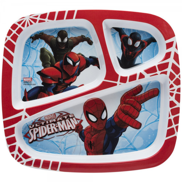 Zak! Designs 3-Section Plate, Ultimate Spiderman 1 ea 1432380