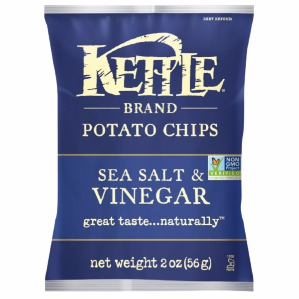 Image of Kettle Brand Potato Chips, 2 oz bags, Sea Salt & Vinegar 24