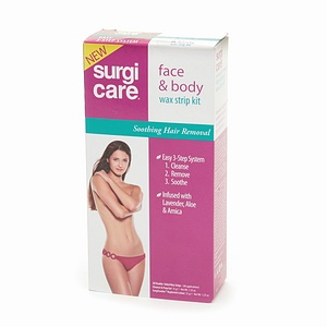 SURGI-CARE Face & Body Wax Strip Kit 1 Each 1303425
