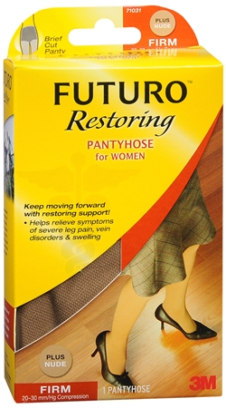 FUTURO Restoring Pantyhose Brief Cut Panty Firm Plus Nude 1 1220410