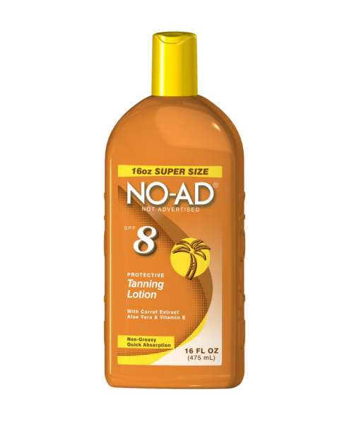 NO-AD Protective Tanning Lotion, SPF 8 16 oz 1330855