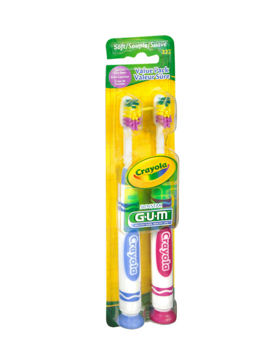 GUM Crayola Toothbrushes Soft 2 Each 1161475