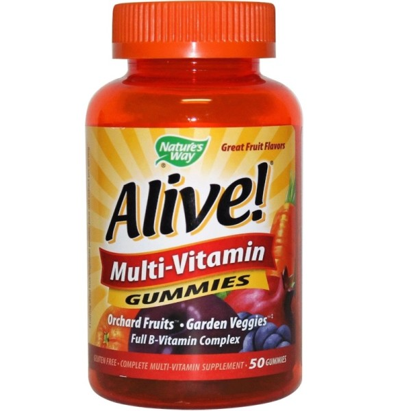 Nature's Way Alive! Multivitamin Gummies, Orchard Fruit and 1320355