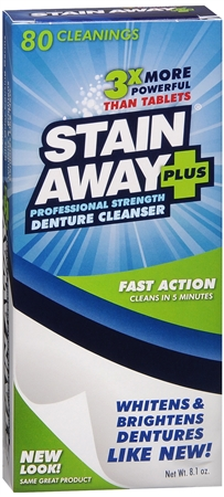 Stain Away Plus Denture Cleanser 8.10 oz 1213095
