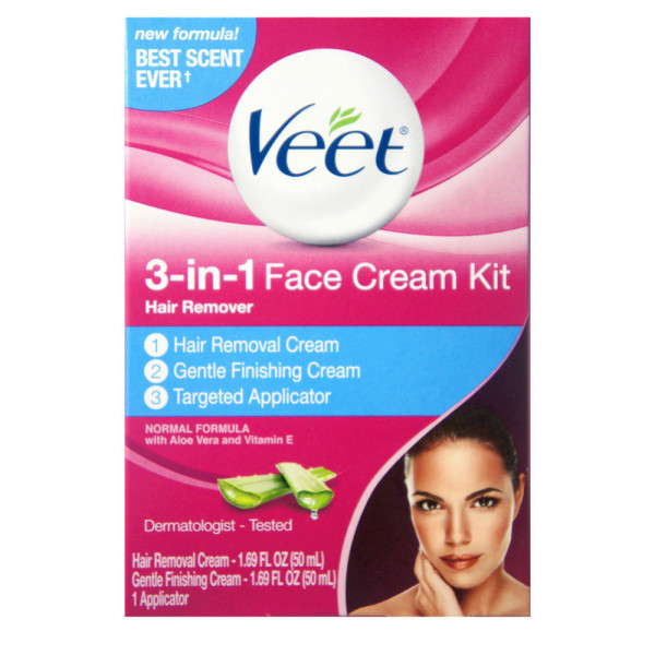 VEET 3-in-1 Face Cream Hair Remover Kit, Normal Formula With 1338375