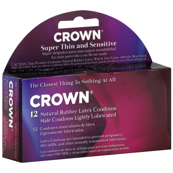 Crown Super Thin & Sensitive Latex Condoms 12 ea 1379250