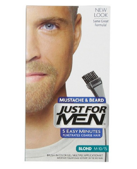 JUST FOR MEN Brush-In Color Gel for Mustache & Beard, Blond 1202700