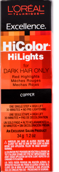 L'Oreal Excellence HiColor Copper HiLight, 1.2 oz 1386885