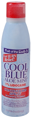 Fruit of the Earth Cool Blue Aloe Mist Continuous Spray 6 oz 1160390