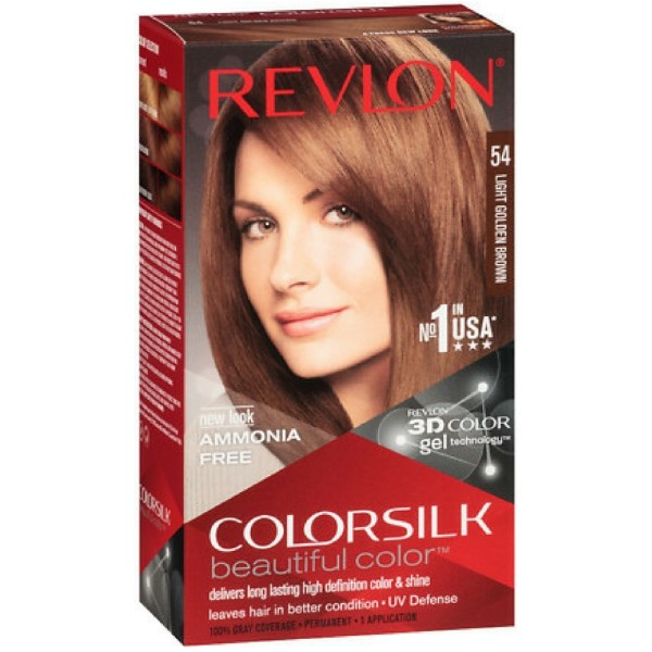 Revlon ColorSilk Hair Color 54 Light Golden Brown 1 Each 1183540