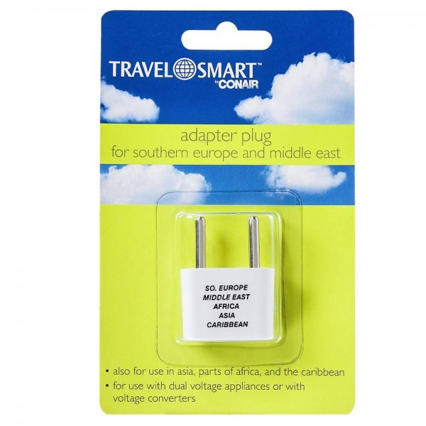 Image of Conair Travel Smart Adapter Plug For Southern Europe & Middl