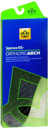 Image of Spenco RX 3/4 Length Orthotic Arch Supports Size 2 1 Pair